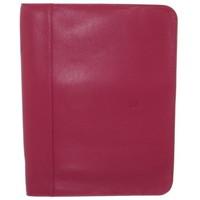 Sacs Porte-Documents / Serviettes Hexagona Conférencier  cuir ref_48615 Fuschia 32*25*2 rose