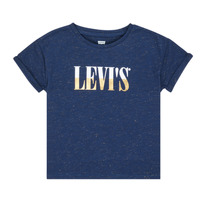 Vêtements Fille T-shirts manches courtes Levi's DROP SHOULDER TEE Bleu