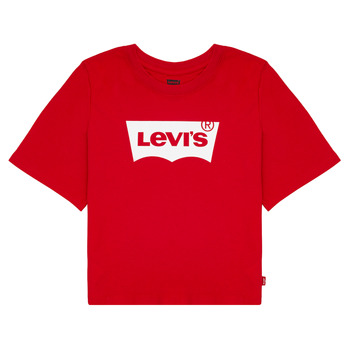 Vêtements Fille T-shirts manches courtes Levi's LIGHT BRIGHT CROPPED TEE Rouge