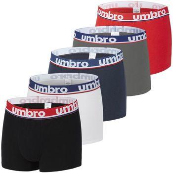 Sous-vêtements Homme Boxers Umbro Lot de 5 boxers homme en coton Noir
