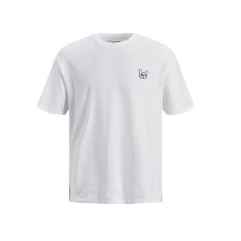 Vêtements Garçon T-shirts manches courtes Jack & Jones JJAARHUS TEE Blanc