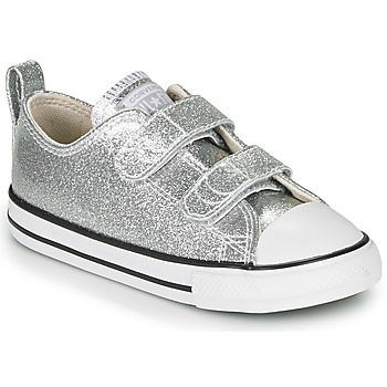 Chaussures Fille Baskets basses Converse CHUCK TAYLOR ALL STAR 2V - COATED GLITTER Argenté