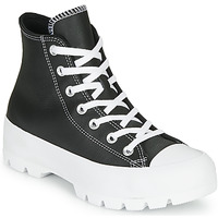 Chaussures Femme Baskets montantes Converse Chuck Taylor All Star Lugged - Foundational Leather Noir