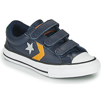 Chaussures Garçon Baskets basses Converse Star Player 3V - Leather Twist Bleu / Moutarde