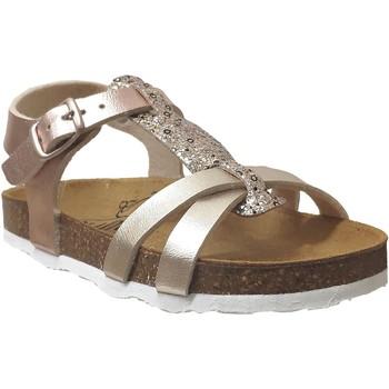 Chaussures Fille Sandales et Nu-pieds Plakton Cross Platine métallisé