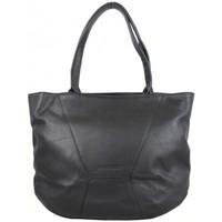Sacs Femme Sacs porté épaule Patrick Blanc Sac cabas cuir souple déco couture  noir Multicolor