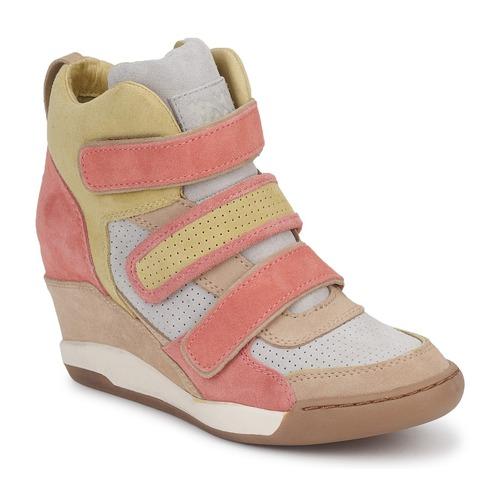 Ash Taupe Femme Baskets Alex CorailJaune Montantes Chaussures trsdQh