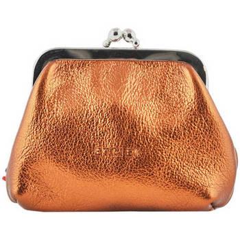 Sacs Femme Porte-monnaie Etrier Porte-monnaie Etincelle cuir ETINCELLE IRISEE 080-0EETI654 CUIVRE