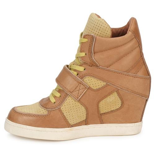 Femme Coca Ash Montantes MarronJaune Baskets Chaussures 7IvbYf6yg