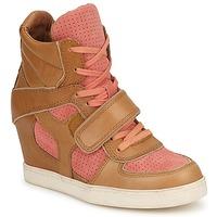 Chaussures Femme Baskets montantes Ash COCA Marron / Corail