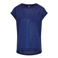 Vêtements Fille T-shirts manches courtes Only KONSILVERY Marine