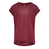 Vêtements Fille T-shirts manches courtes Only KONSILVERY Bordeaux