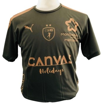 Vêtements Garçon T-shirts & Polos Puma Maillot enfant Third MHB 2018/2019 vert kaki/marron clair/vert kaki