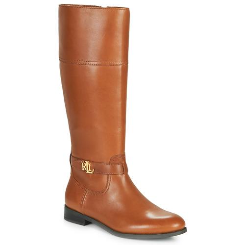 Chaussures Femme Bottes ville Lauren Ralph Lauren BAYLEE Cognac