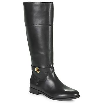 Chaussures Femme Bottes ville Lauren Ralph Lauren BAYLEE Noir