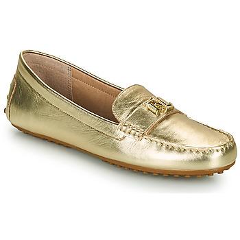 Chaussures Femme Mocassins Lauren Ralph Lauren BARNSBURY FLATS CASUAL Doré