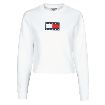 Vêtements Femme Sweats Tommy Jeans TJW TOMMY FLAG CREW Blanc