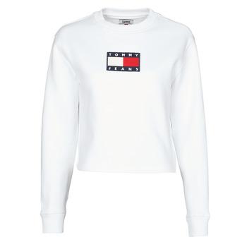Vêtements Femme Sweats Tommy Jeans TJW TOMMY FLAG CREW Blanc