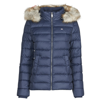 Vêtements Femme Doudounes Tommy Jeans TJW BASIC HOODED DOWN JACKET Marine
