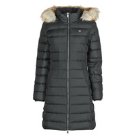 Vêtements Femme Doudounes Tommy Jeans TJW ESSENTIAL HOODED DOWN COAT Noir