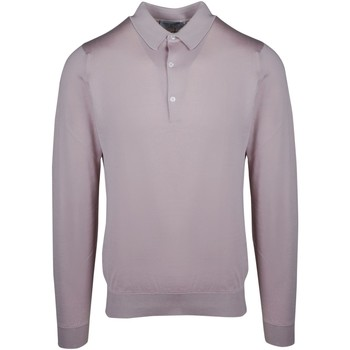Vêtements Homme Polos manches longues John Smedley POLO HOMME ROSE