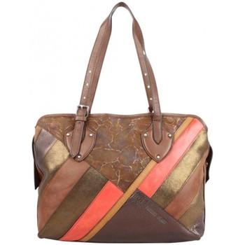 Sacs Femme Sacs porté épaule Patrick Blanc Sac épaule cuir patchwork  marron Marron