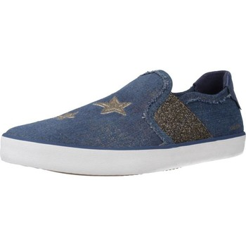 Chaussures Fille Slip ons Geox J KILWI GIRL Bleu