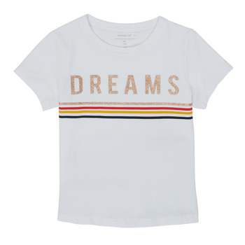 Vêtements Fille T-shirts manches courtes Name it NKFFRANSESKA Blanc