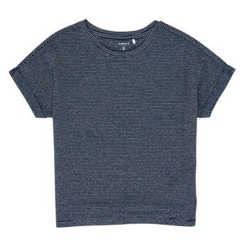 Vêtements Fille T-shirts manches courtes Name it NKFKYRRA Marine