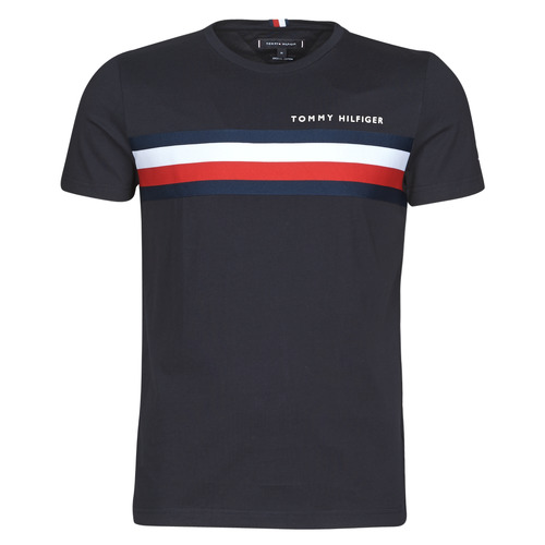 Vêtements Homme T-shirts manches courtes Tommy Hilfiger GLOBAL STRIPE TEE Marine