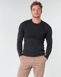 Vêtements Homme T-shirts manches longues Tommy Hilfiger STRETCH SLIM FIT LONG SLEEVE TEE Noir