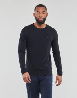 Vêtements Homme Votre nom doit contenir un minimum de 2 caractères Tommy Hilfiger STRETCH SLIM FIT LONG SLEEVE TEE Noir