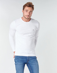 Vêtements Homme T-shirts manches longues Tommy Hilfiger STRETCH SLIM FIT LONG SLEEVE TEE Blanc