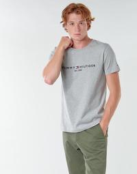 Vêtements Homme T-shirts manches courtes Tommy Hilfiger TOMMY LOGO TEE Gris