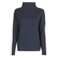 Vêtements Femme Pulls Tommy Hilfiger SIDE STRIPE MOCK-NK SWEATER LS Marine / Argent / Bordeaux