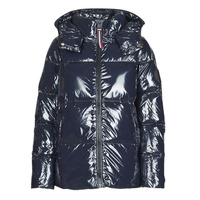 Vêtements Femme Doudounes Tommy Hilfiger HIGH GLOSS DOWN PUFFER JKT Marine