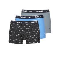 Sous-vêtements Homme Boxers Nike EVERYDAY COTTON STRETCH X3 Noir / Gris / Bleu