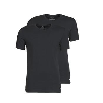 Vêtements Homme T-shirts manches courtes Nike EVERYDAY COTTON STRETCH X2 Noir