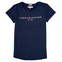 Vêtements Fille T-shirts manches courtes Tommy Hilfiger KG0KG05242-C87 Marine