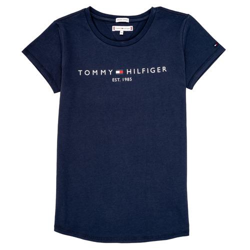 Vêtements Fille T-shirts manches courtes Tommy Hilfiger TREPI Marine
