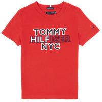 Vêtements Garçon T-shirts manches courtes Tommy Hilfiger KB0KB05848-XNL Rouge