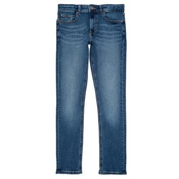 Vêtements Garçon Jeans slim Tommy Hilfiger SCANTON SLIM Bleu