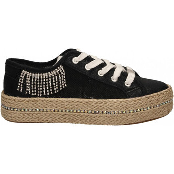 Chaussures Femme Baskets basses Café Noir SNEAKERS IN RETE LUREX 010-nero