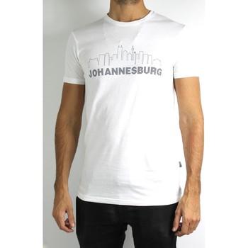Vêtements Homme T-shirts manches courtes Kebello T-Shirt manches courtes Taille : H Blanc M Blanc
