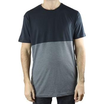 Vêtements Homme T-shirts manches courtes Kebello T-Shirt bi-couleur Taille : H Noir S Noir