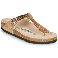 Chaussures Femme Tongs Birkenstock GIZEH Gold