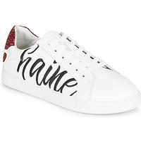 Chaussures Femme Baskets basses Bons baisers de Paname SIMONE AMOUR/HAINE Blanc