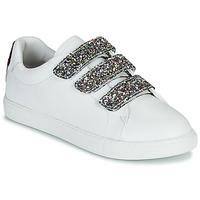 Chaussures Femme Baskets basses Bons baisers de Paname EDITH GLITTER TONGUE Blanc