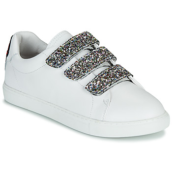 Chaussures Femme Baskets basses Votre avis nous intéresse EDITH GLITTER TONGUE Blanc