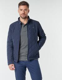 Vêtements Homme Blousons Gant QUILTED WINDCHEATER Marine